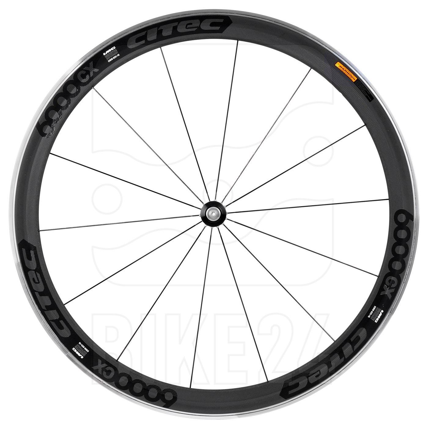 CITEC 6000 CX Carbon 28 Inch Front Wheel - Clincher - black
