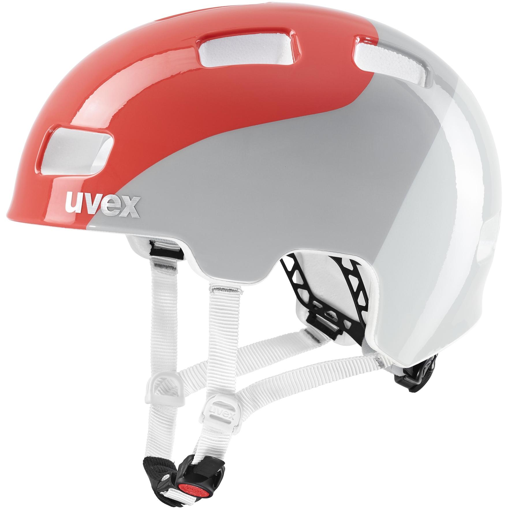 Uvex hlmt 4 Kids Helmet - grapefruit-grey wave