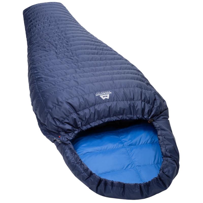 Foto de Mountain Equipment TransAlp Saco de dormir Long cremallera izquierda - Medieval/Lapis Blue