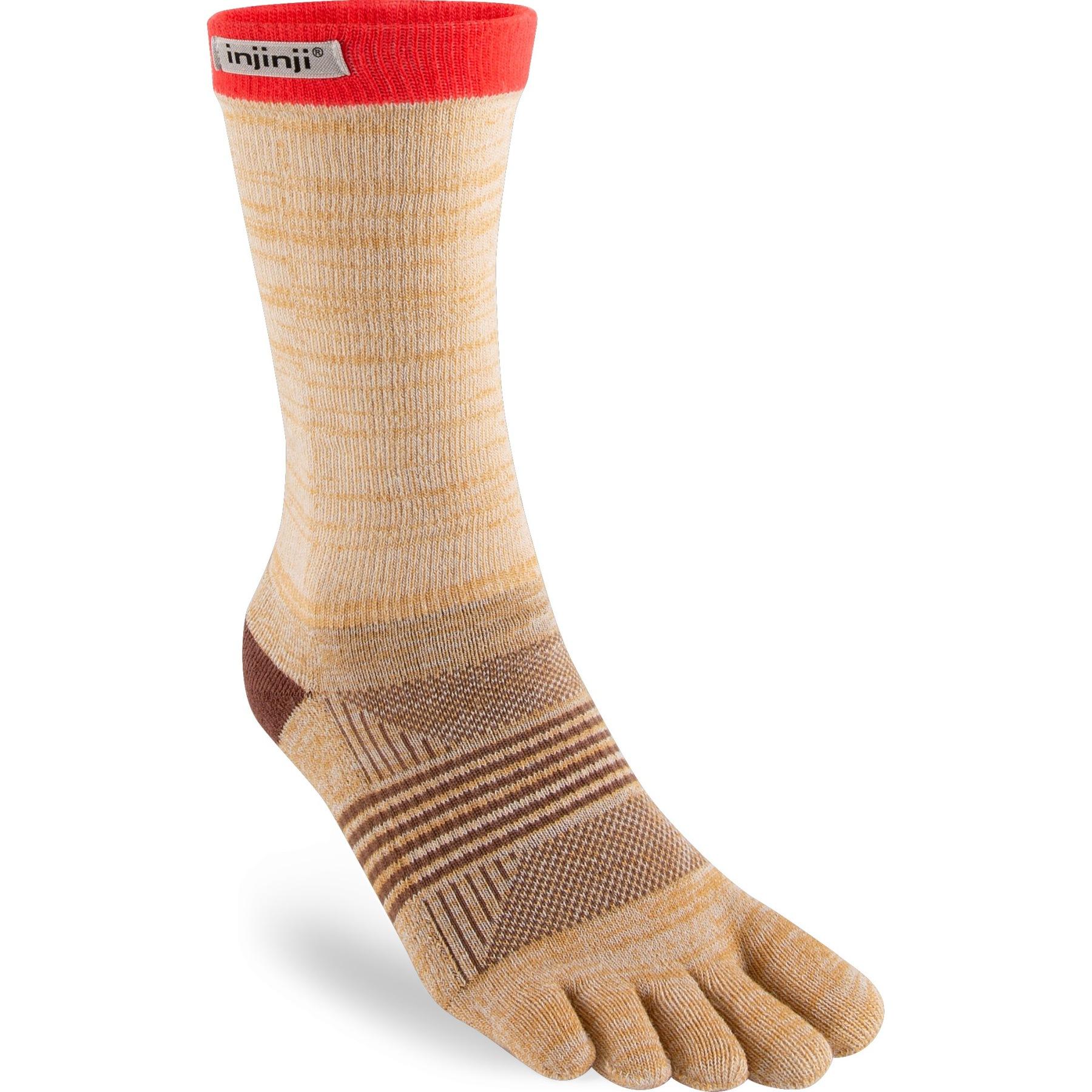 Injinji Women's Trail Midweight Crew Socks - spur