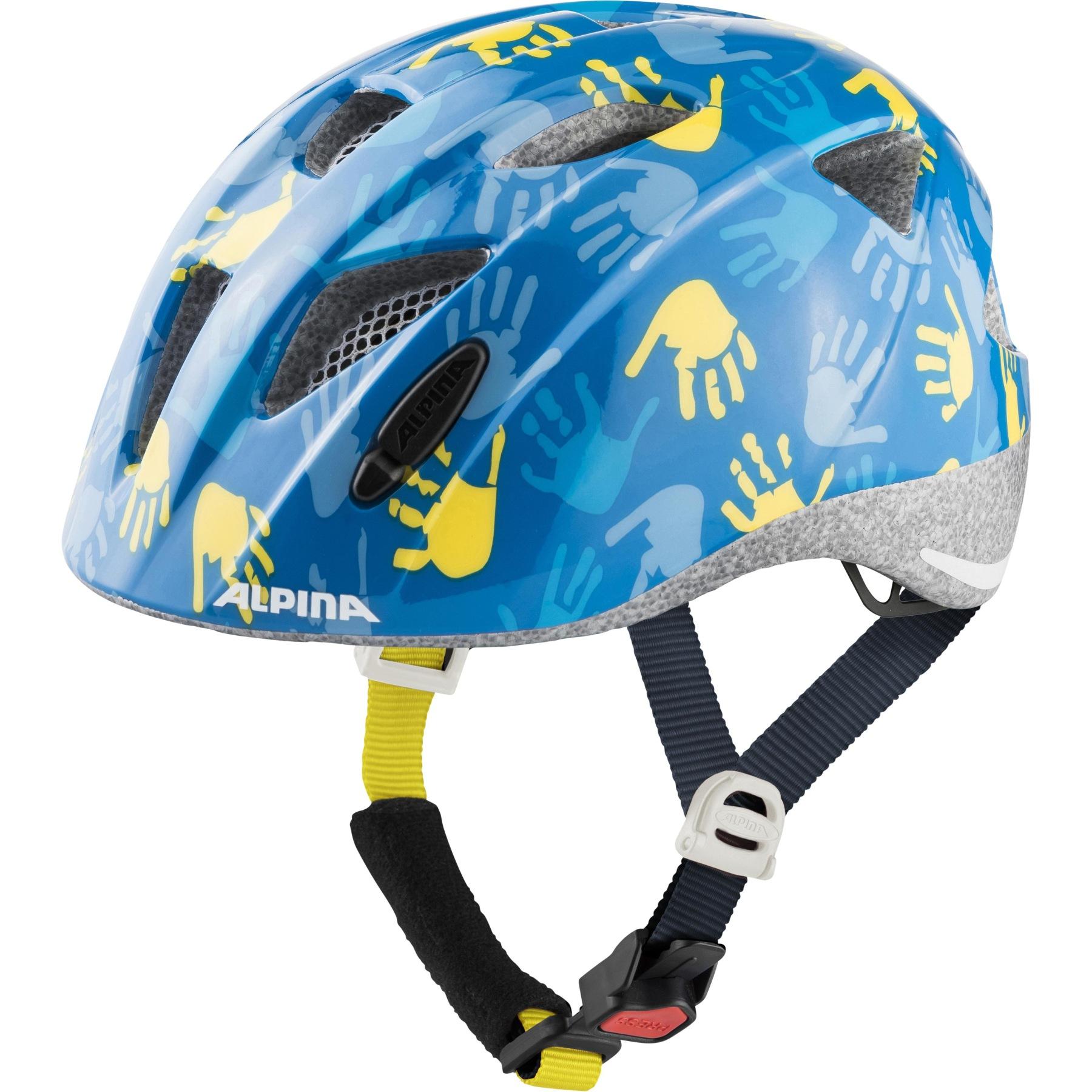 Alpina Ximo Kids Helmet - blue hands gloss