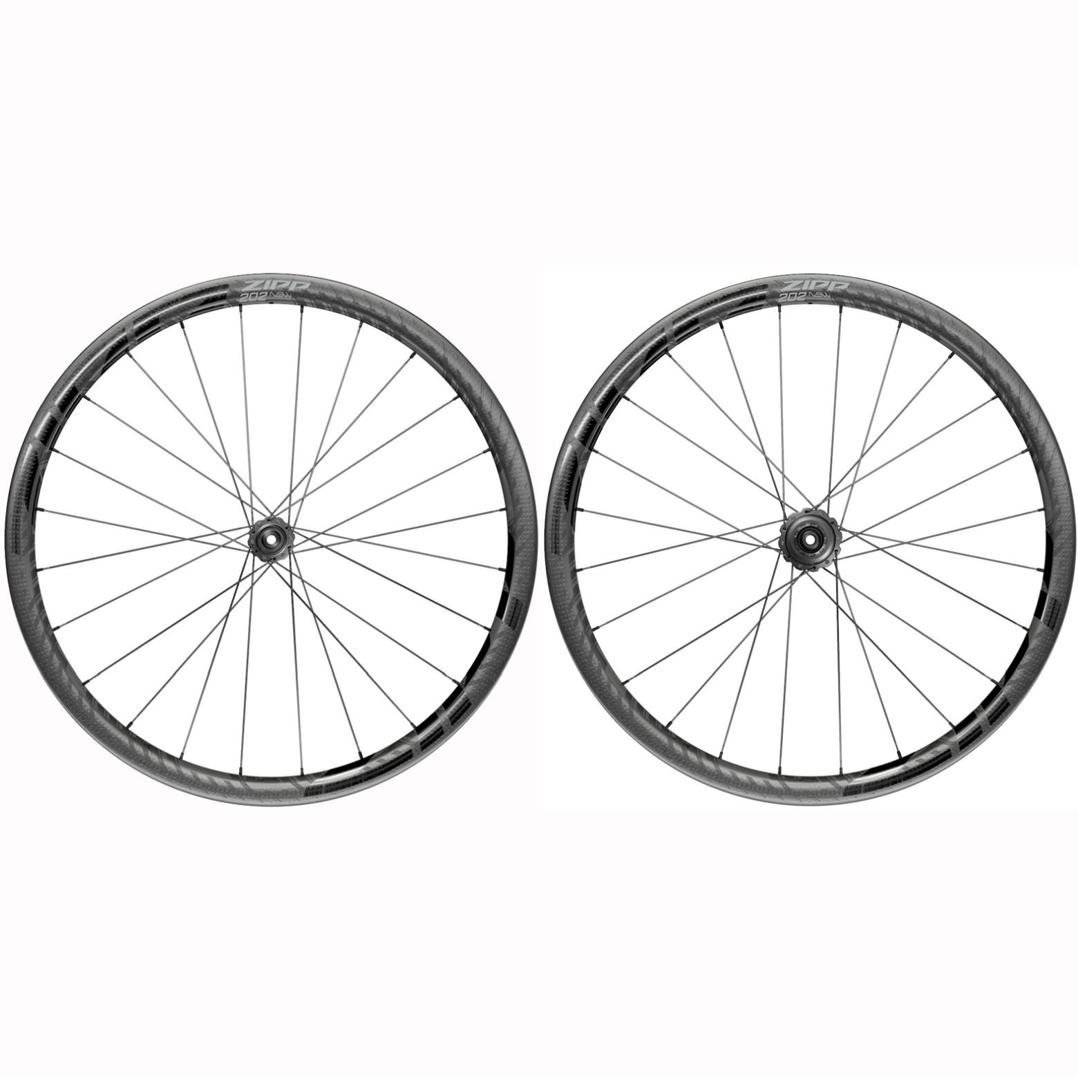 ZIPP 202 NSW Carbon Laufradsatz - Drahtreifen - Centerlock - VR: 12x100mm | HR: 12x142mm - Shimano/SRAM 10/11f - schwarz