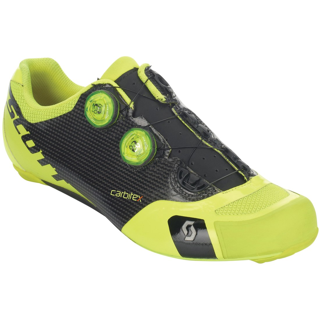Image of SCOTT Road RC SL Shoe - black/neon yellow