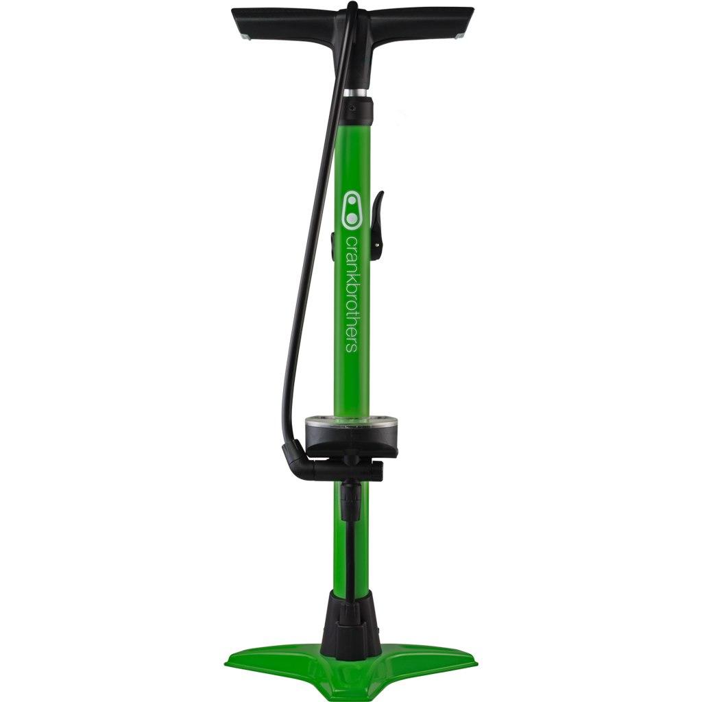 Crankbrothers Gem Floor Pump with analog Manometer - green