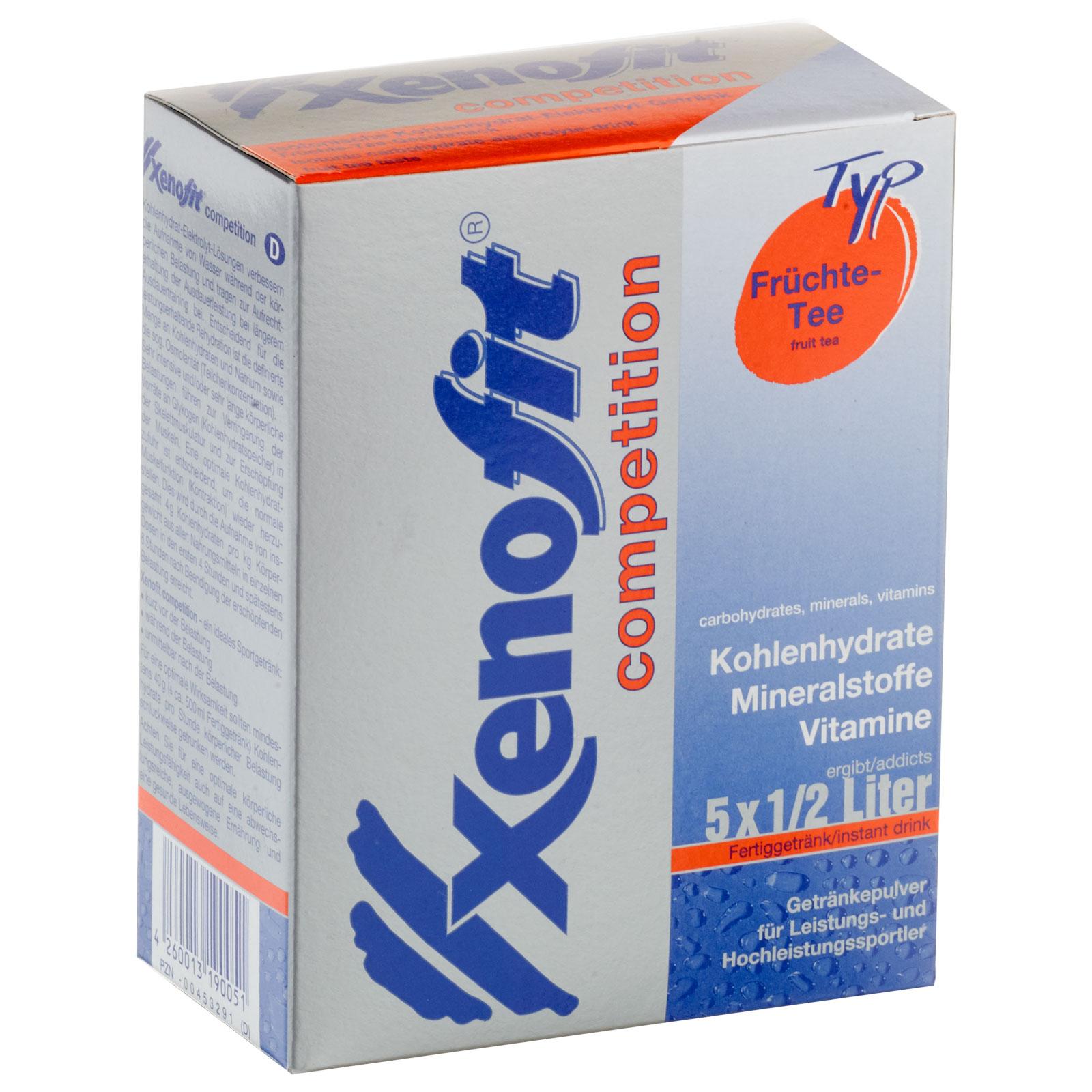 Xenofit Competition Früchte-Tee - Isotonisches Kohlenhydrat-Getränk - 5x43g