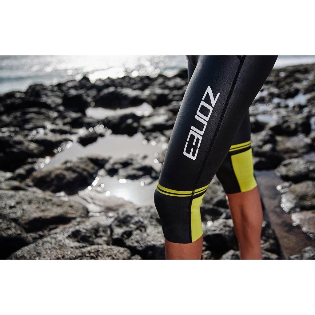Image of Zone3 Men's Swim-Run Versa Wetsuit - black/blue/yellow