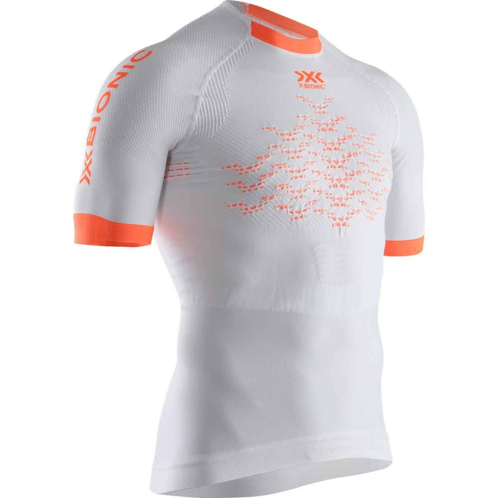 Produktbild von X-Bionic The Trick 4.0 Run Kurzarm-Laufshirt für Herren - arctic white/kurkuma orange