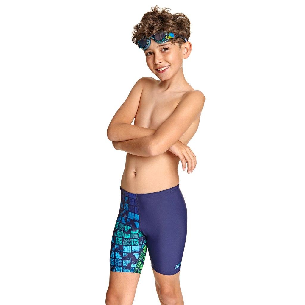 Bild von Zoggs Rascal Mid Jammer Kinder Badehose - Navy/Multi