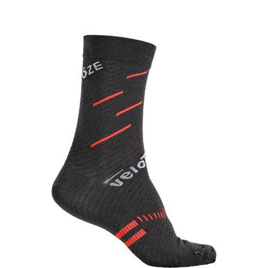 veloToze Merino Wool Socks - Black/Red