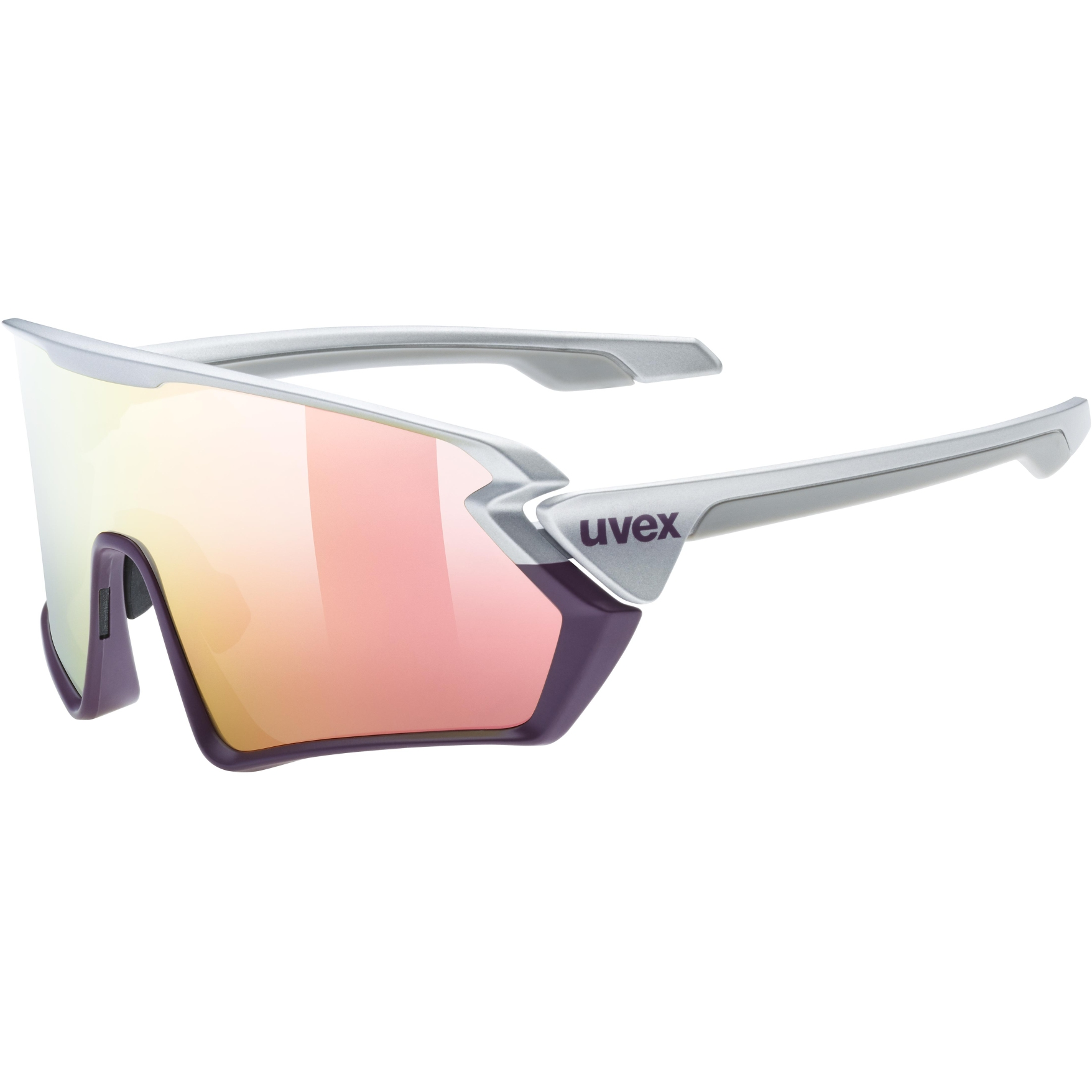 Uvex sportstyle 231 Glasses - silver plum mat/mirror rose