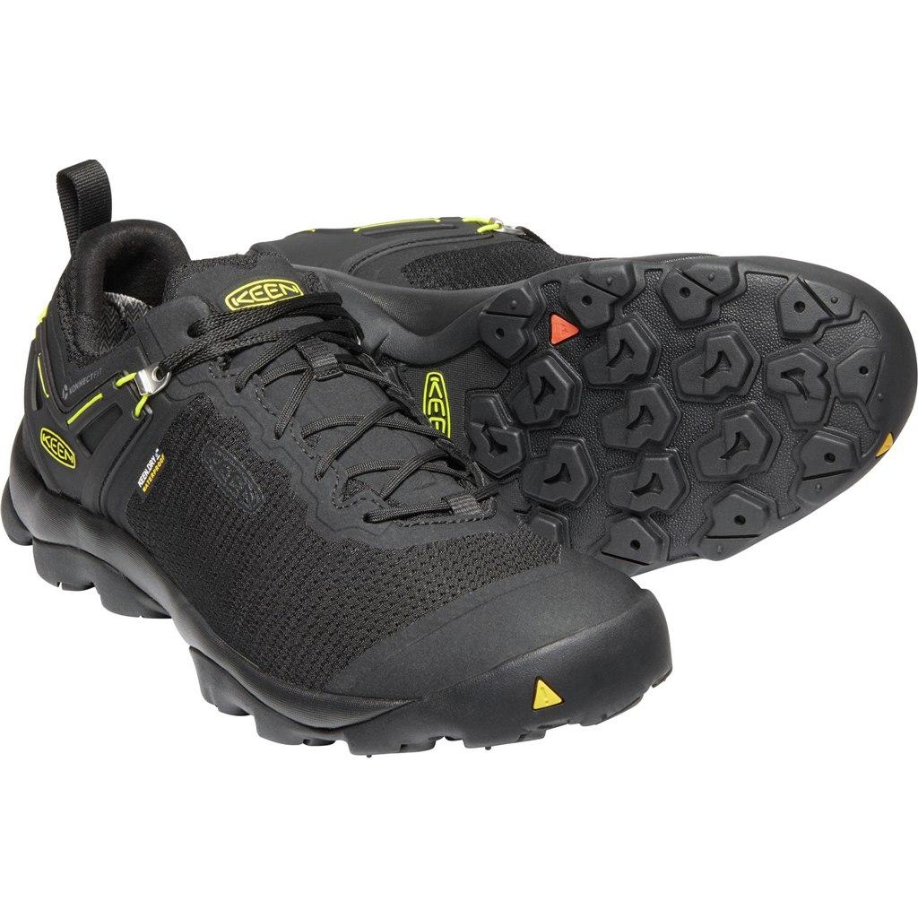KEEN Venture Waterproof Men's Hiking Shoe - Black / Keen Yellow
