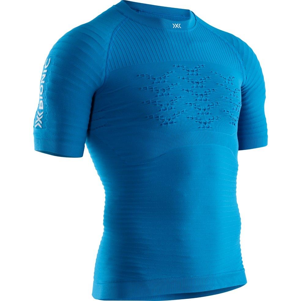 X-Bionic Effektor 4.0 Run Kurzarm-Laufshirt für Herren - teal blue/dolomite grey