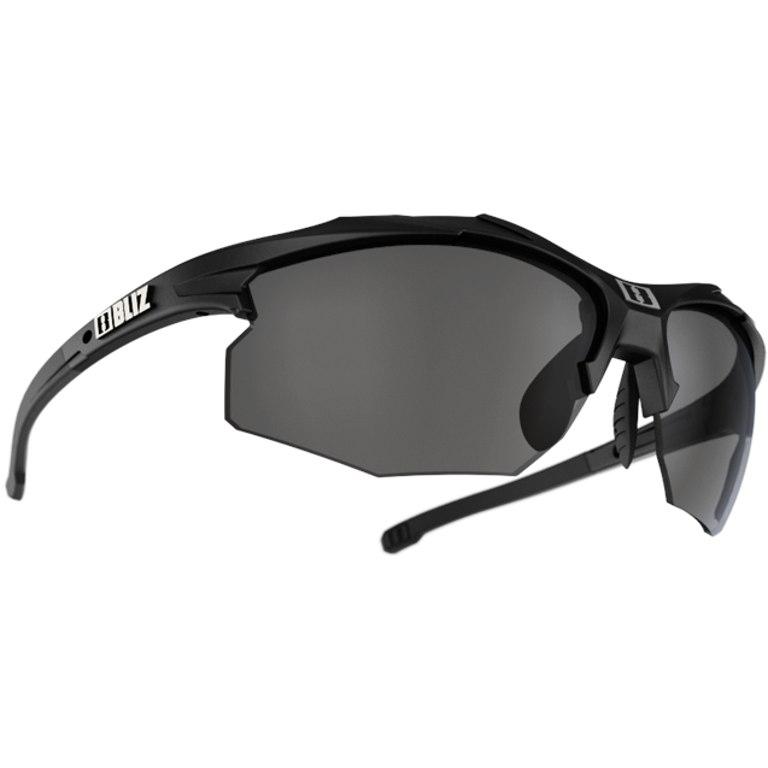 Bliz Hybrid Matt Black / Smoke + Orange + Clear Glasses