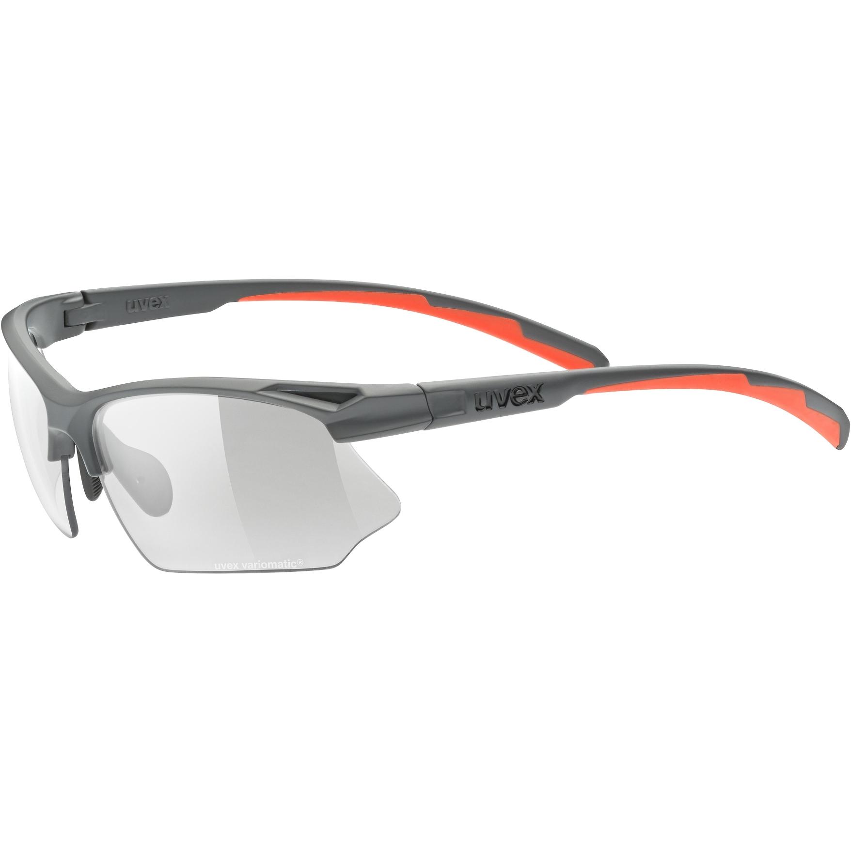 Uvex sportstyle 802 V Glasses - grey mat/variomatic smoke