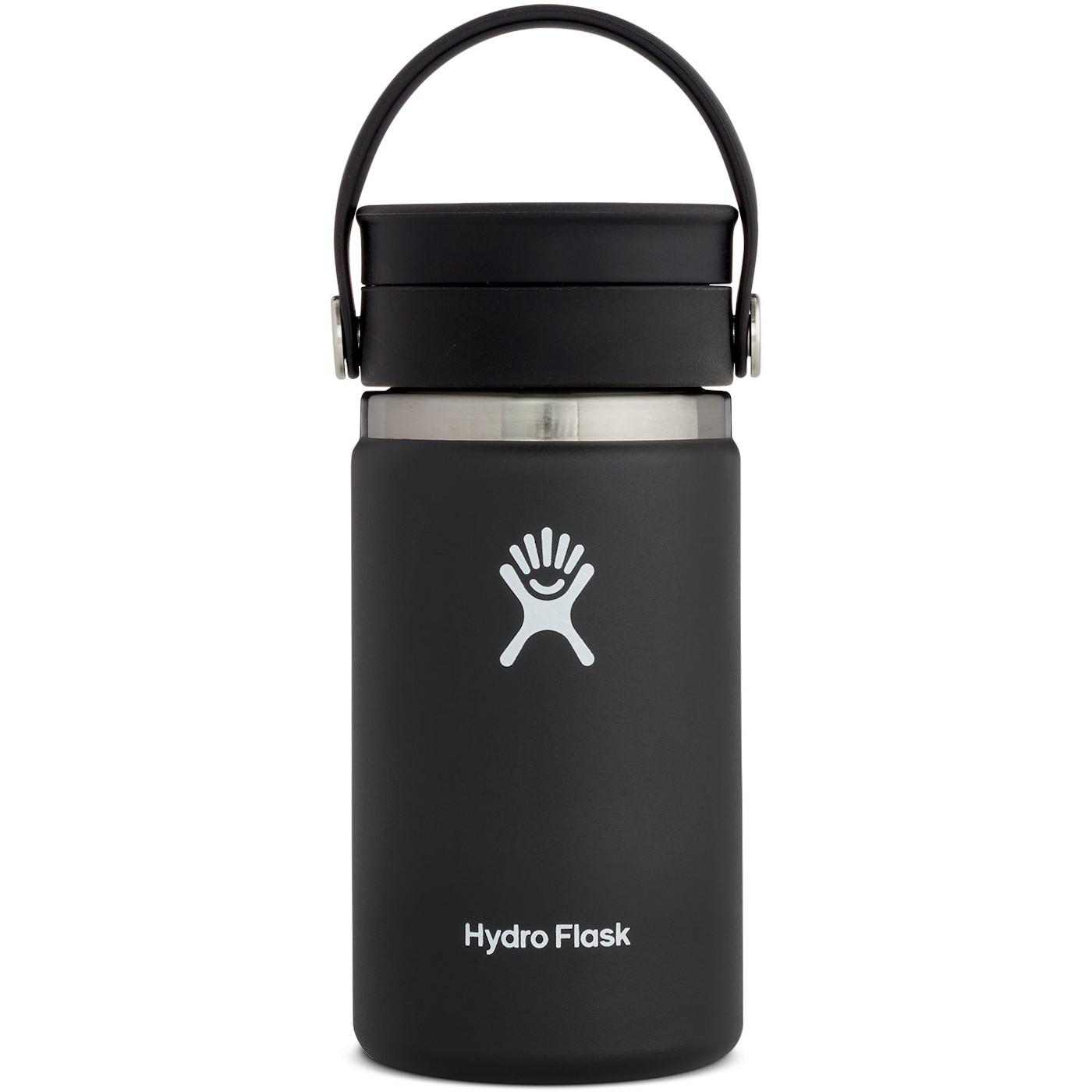 Hydro Flask 12 oz Wide Mouth Coffee Kaffeebecher mit Flex Sip Deckel - 354 ml - Black