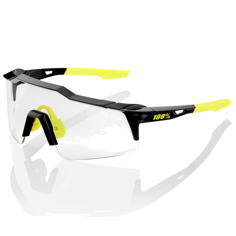 100% Speedcraft - Small - Photochromic Lens Gafas - Gloss Black/Photochromic