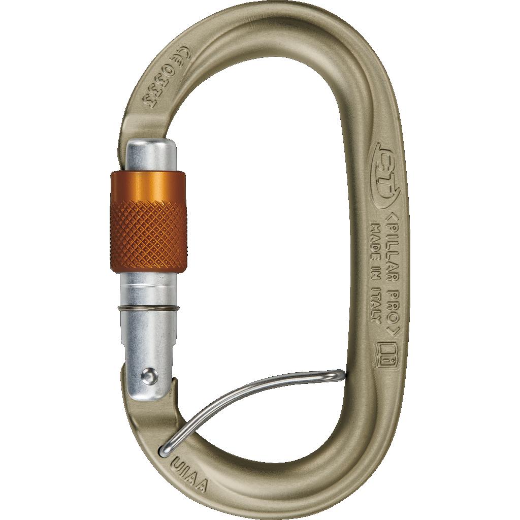 Image of Climbing Technology Pillar Pro SGL HC Carabiner - brown / silver / orange