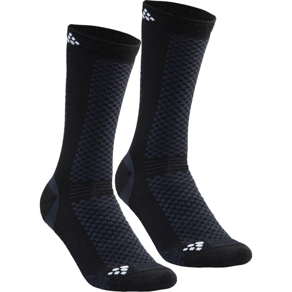 CRAFT Warm Mid 2-Pack Socks 1905544 - 999900 Black/White
