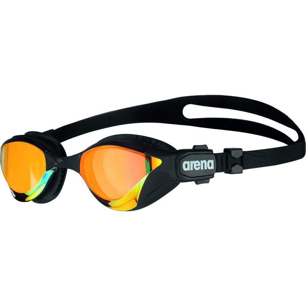 arena Cobra Tri Swipe Mirror Yellow Copper/Black Swimming Goggle