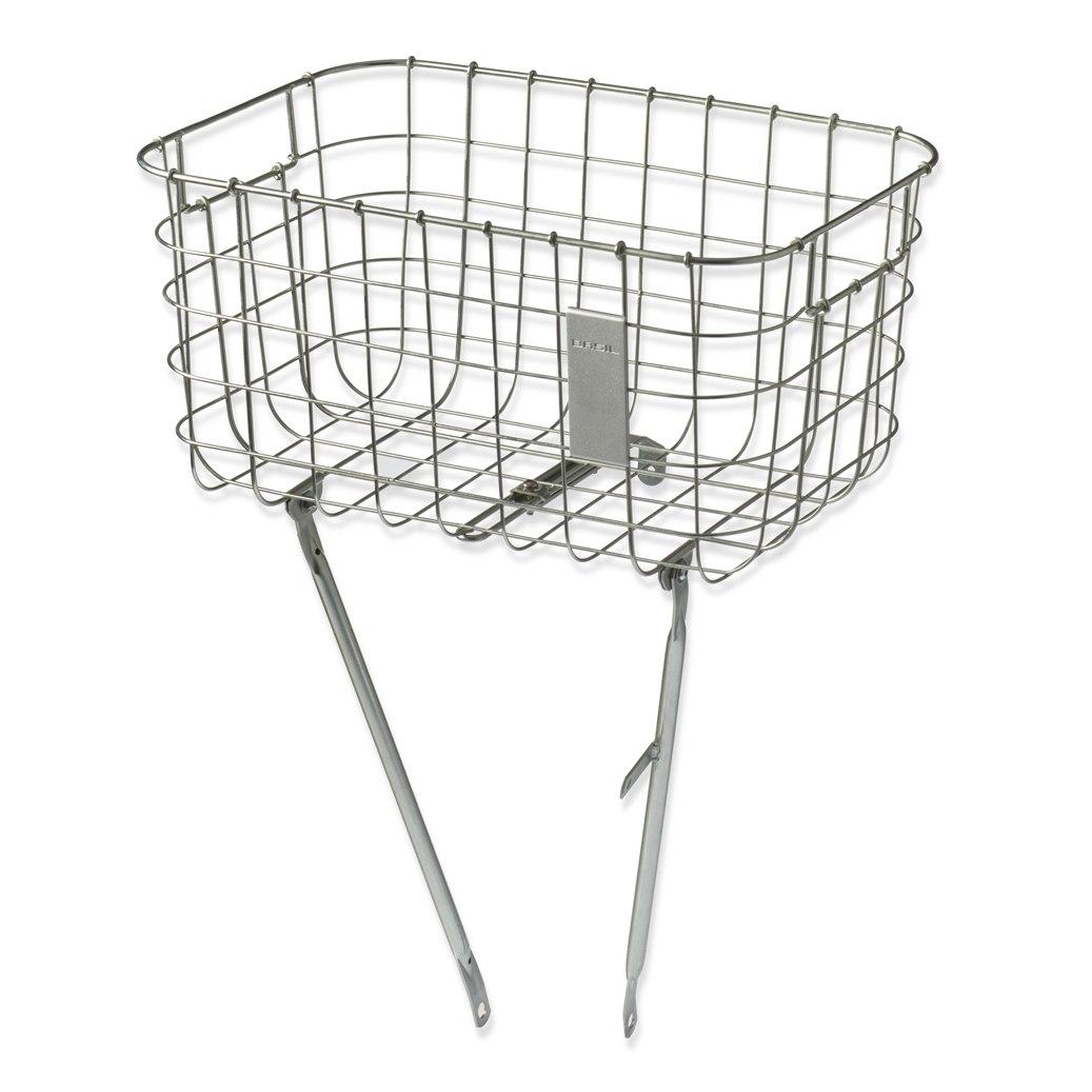 Image of Basil Robin - Front Wheel Basket - silver cloud