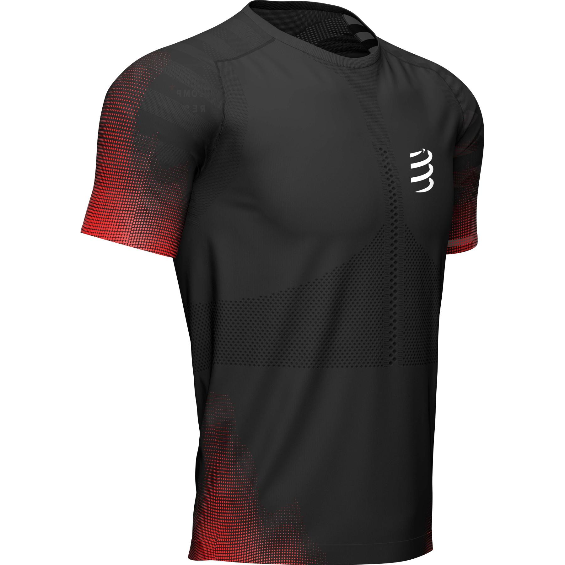 Produktbild von Compressport Racing Laufshirt - schwarz