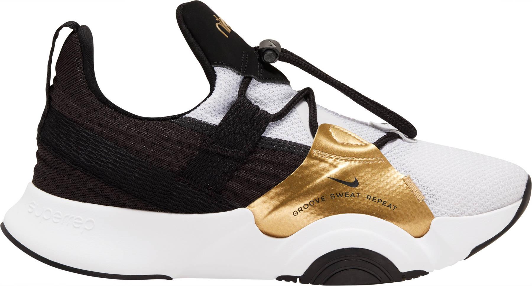 Nike SuperRep Groove Cardio Dance Damenschuh - white/black-metallic gold coin-black CT1248-109