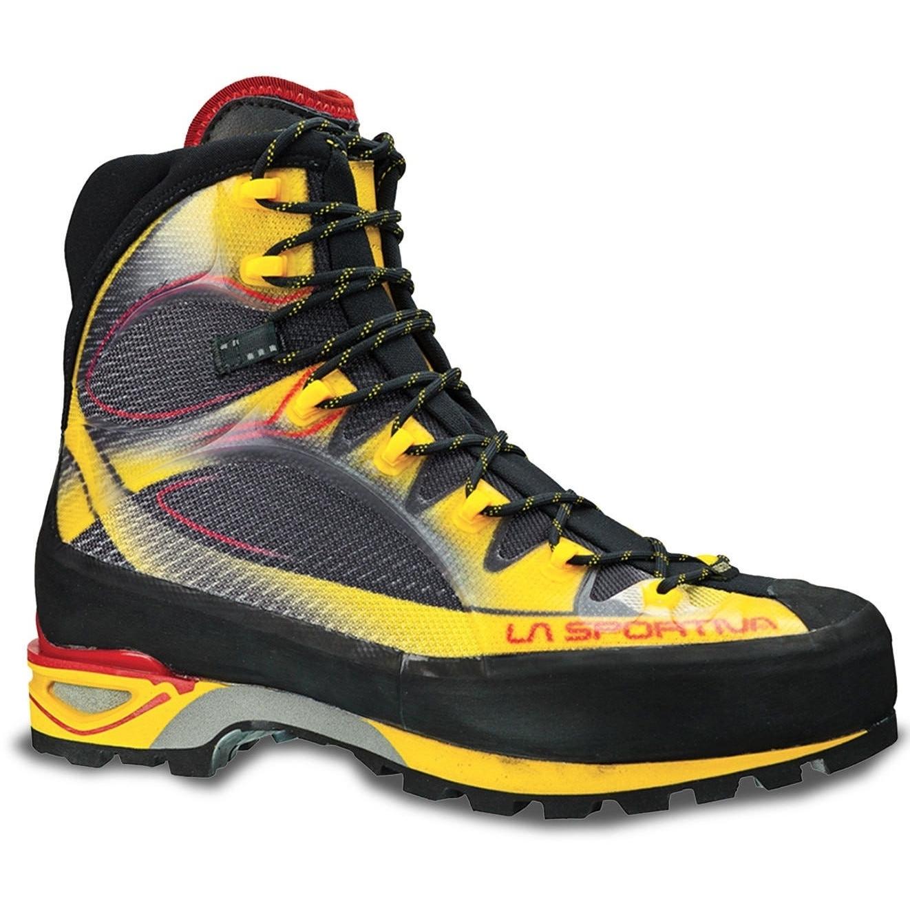 Image of La Sportiva Trango Cube GTX Mountaineering Shoes - Yellow/Black
