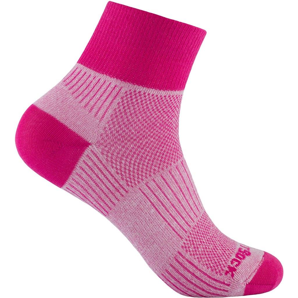 WRIGHTSOCK Coolmesh II Quarter Double Layer Socks - beet root - 805-38