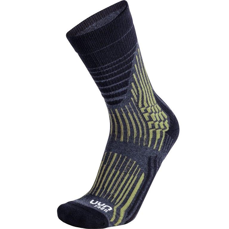 UYN Trekking Wave Socks - grey rock/sage green