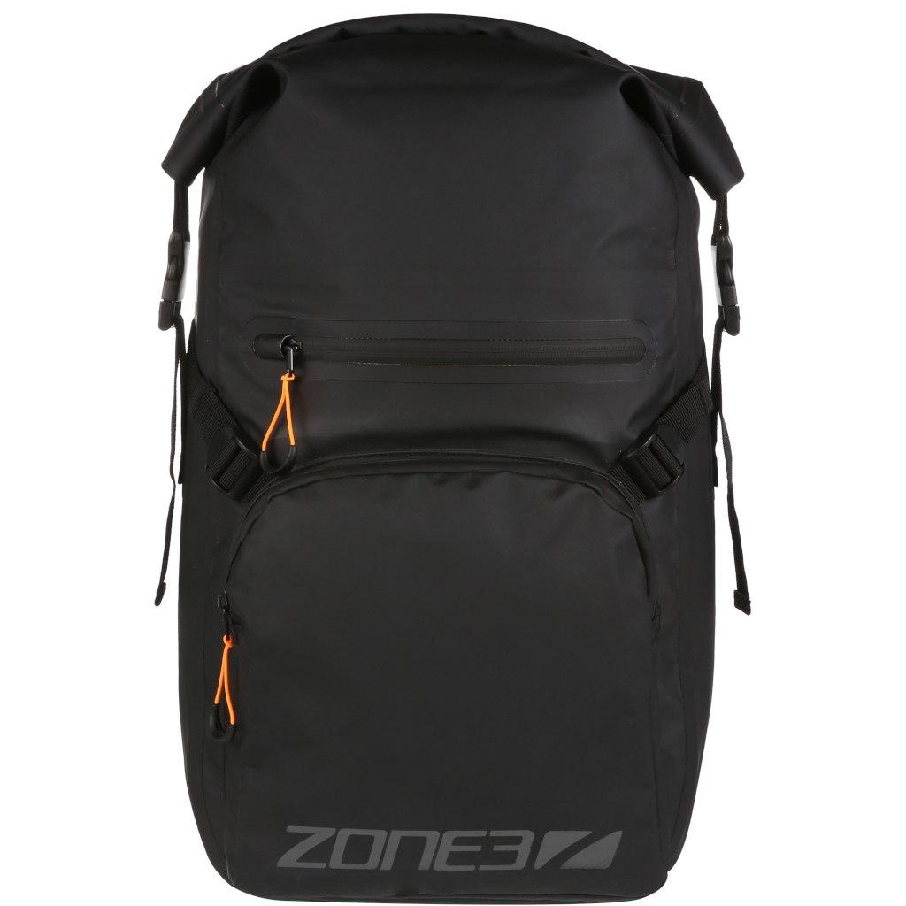 Zone3 Waterproof Roll-Top 25L Rucksack - black/orange