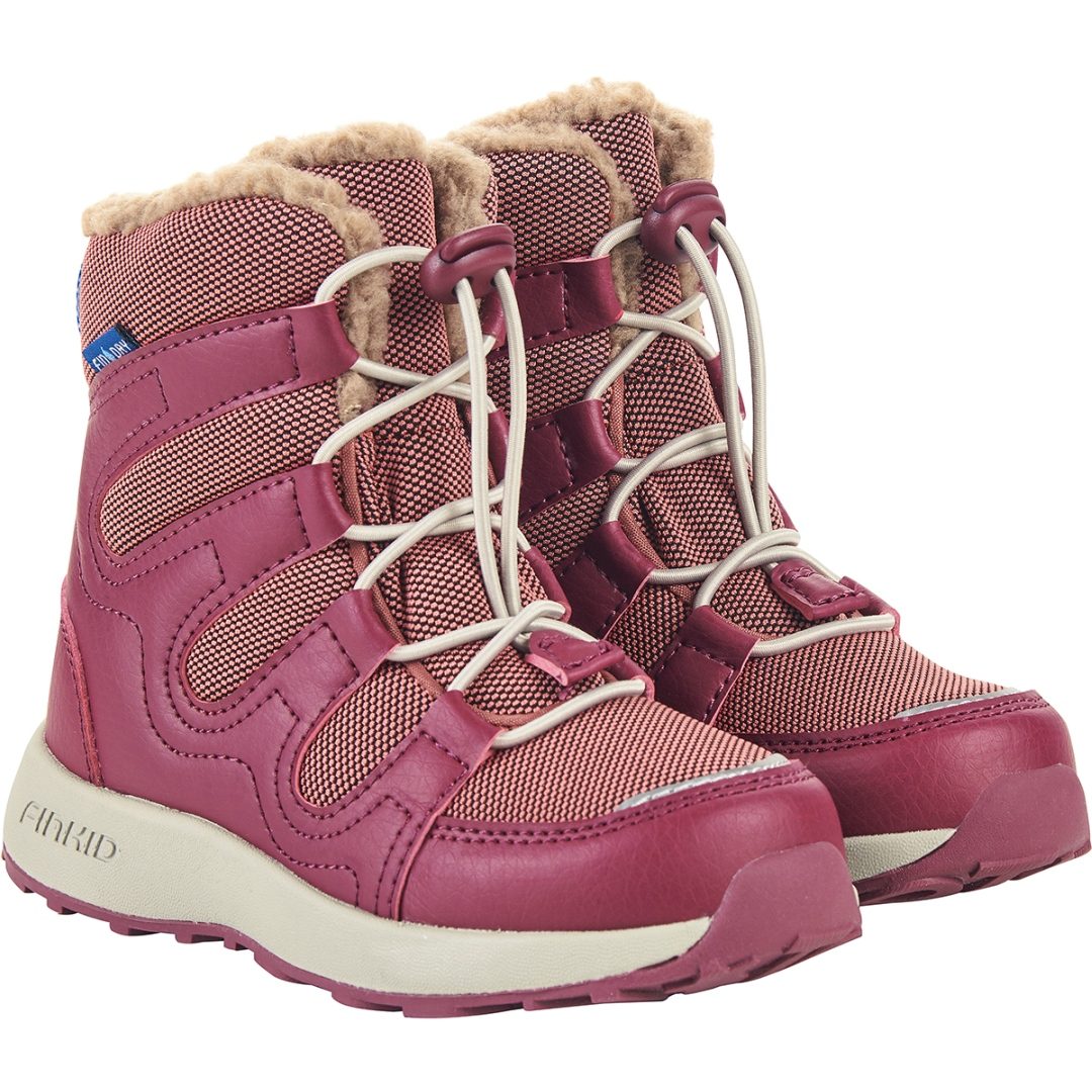 Image of Finkid HUIPPU Kids Winter Boots - rose/beet red