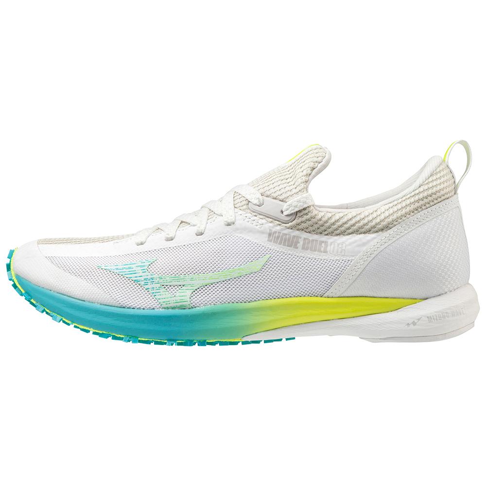 Mizuno Wave Duel 2 Women's Running Shoes - White/White/Safety Yellow