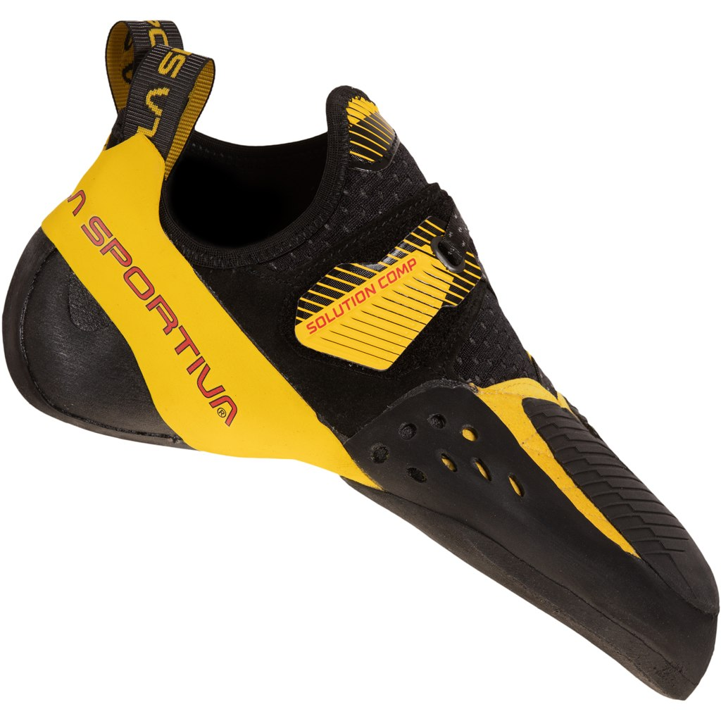 La Sportiva Solution Comp Climbing Shoes - Black/Yellow