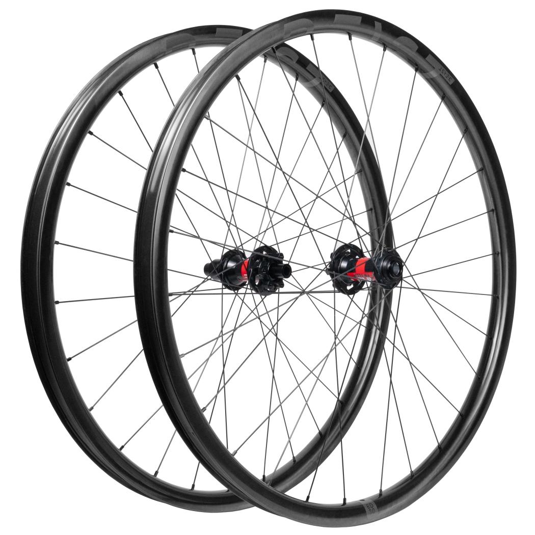Beast Components ED30 29 Inch Carbon MTB Wheelset - 6-Bolt - FW: 15x110mm | RW: 12x148mm Boost - Shimano MicroSpline - UD black