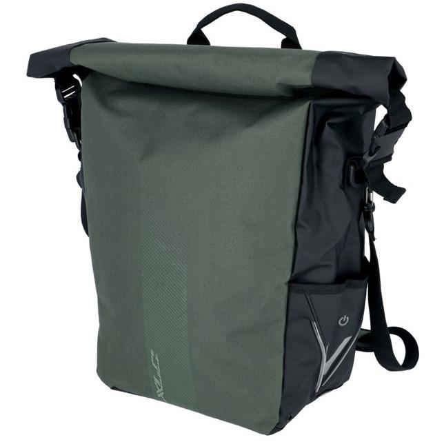 XLC V-Light Rolltop Gepäckträgertasche - Einzeln - dunkelgrün