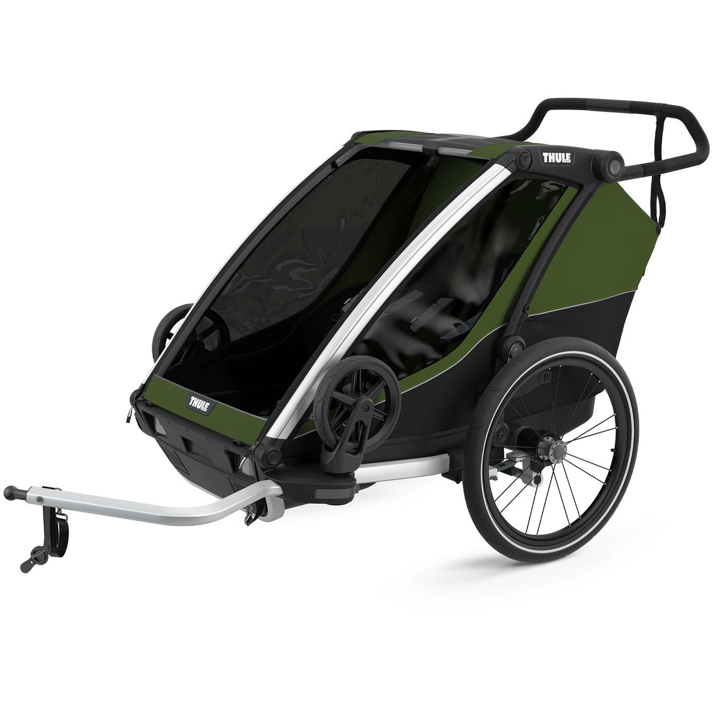 Foto de Thule Chariot Cab 2 - Remolque de bicicleta para 2 niños - cypress green