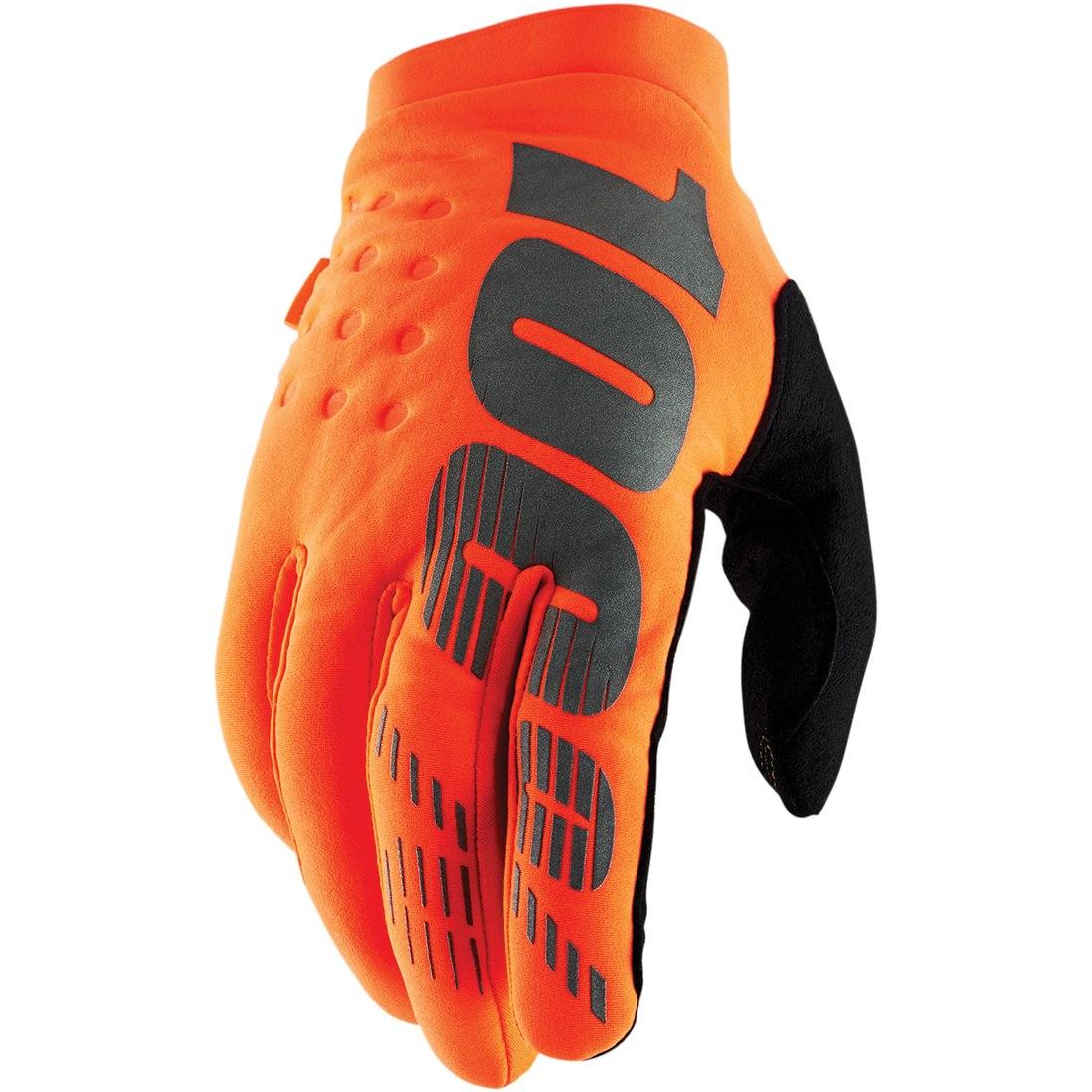 100% Brisker Cold Weather Glove - Fluo Orange/Black