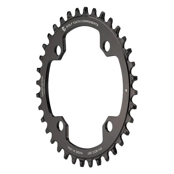Bild von Wolf Tooth Drop Stop Narrow-Wide Kettenblatt - 104mm - Shimano Hyperglide+ 12-speed - schwarz