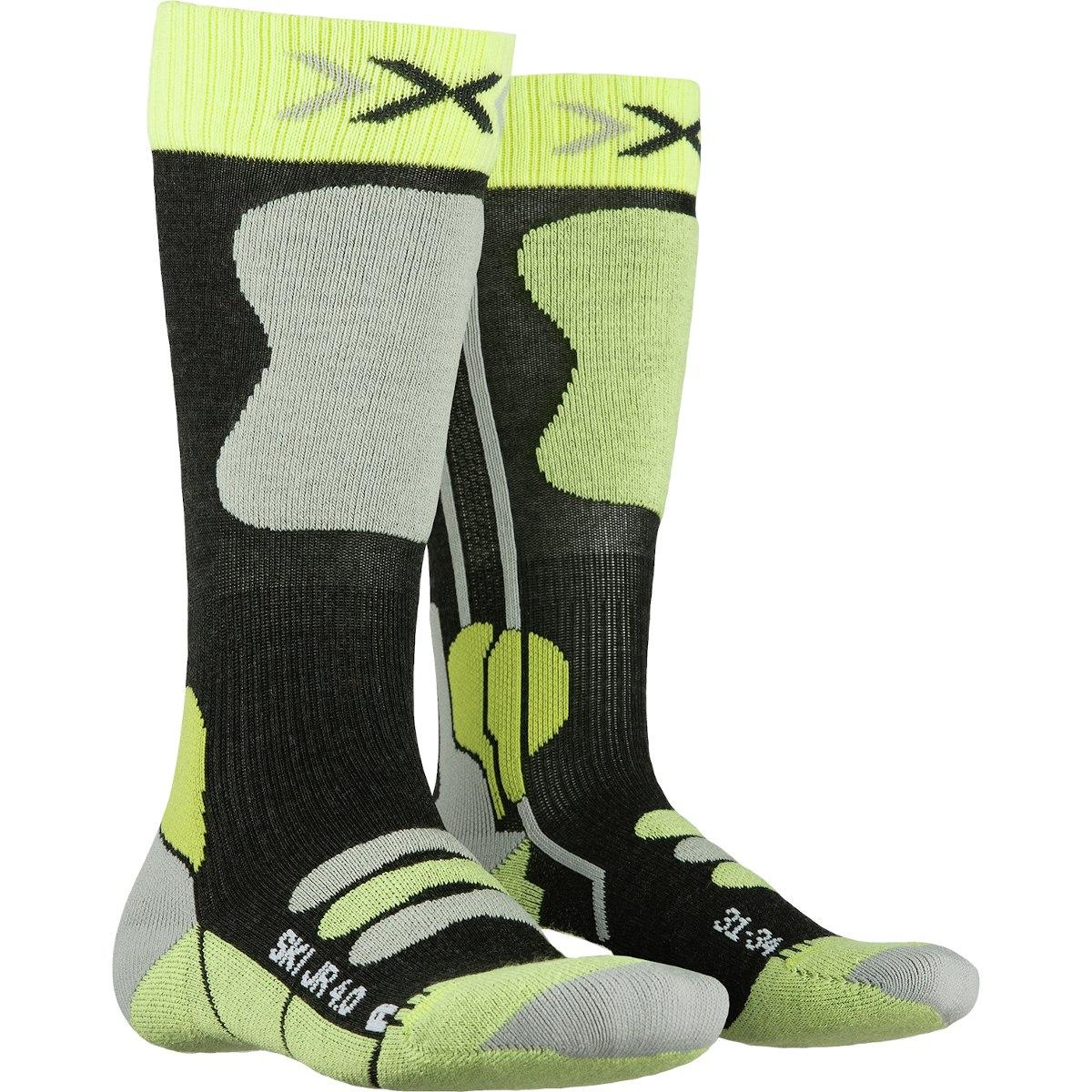 Bild von X-Socks Ski Junior 4.0 Kindersocken - anthracite melange/green lime