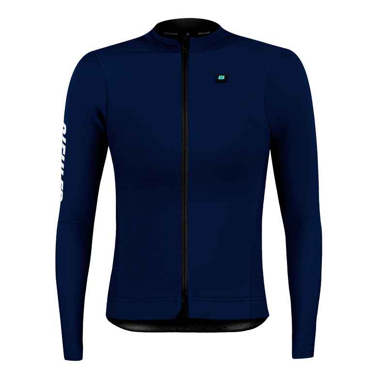 Biehler Thermal Rain Women's Long-Sleeve Jersey - Night Blue