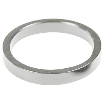 Image of Wheels Manufacturing Headset Spacer - 2.5mm/5mm/10mm - 1 Inch (1 Piece) - silver polished