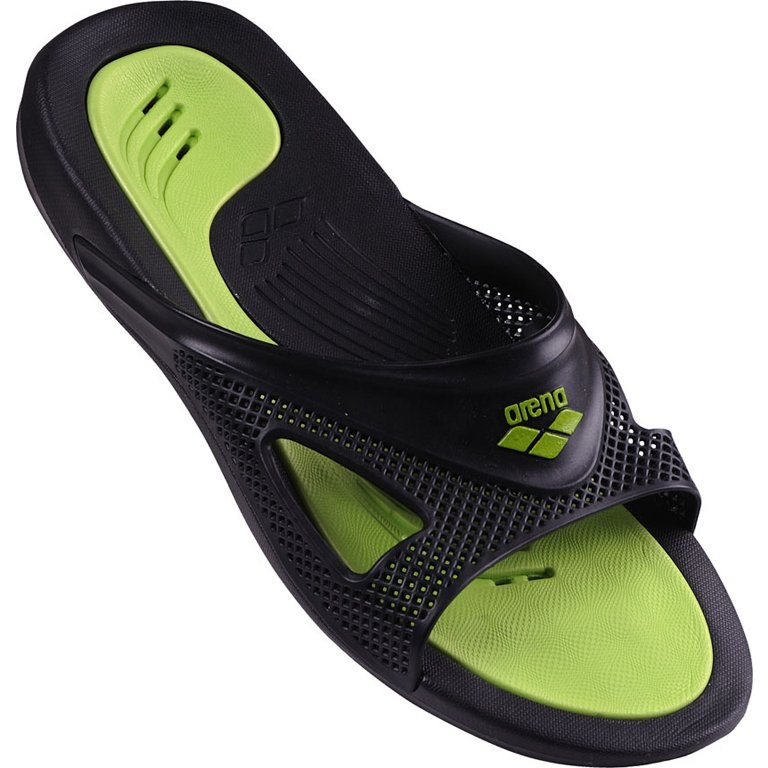 arena Hydrofit Man Bathing Shoe - black/black/green