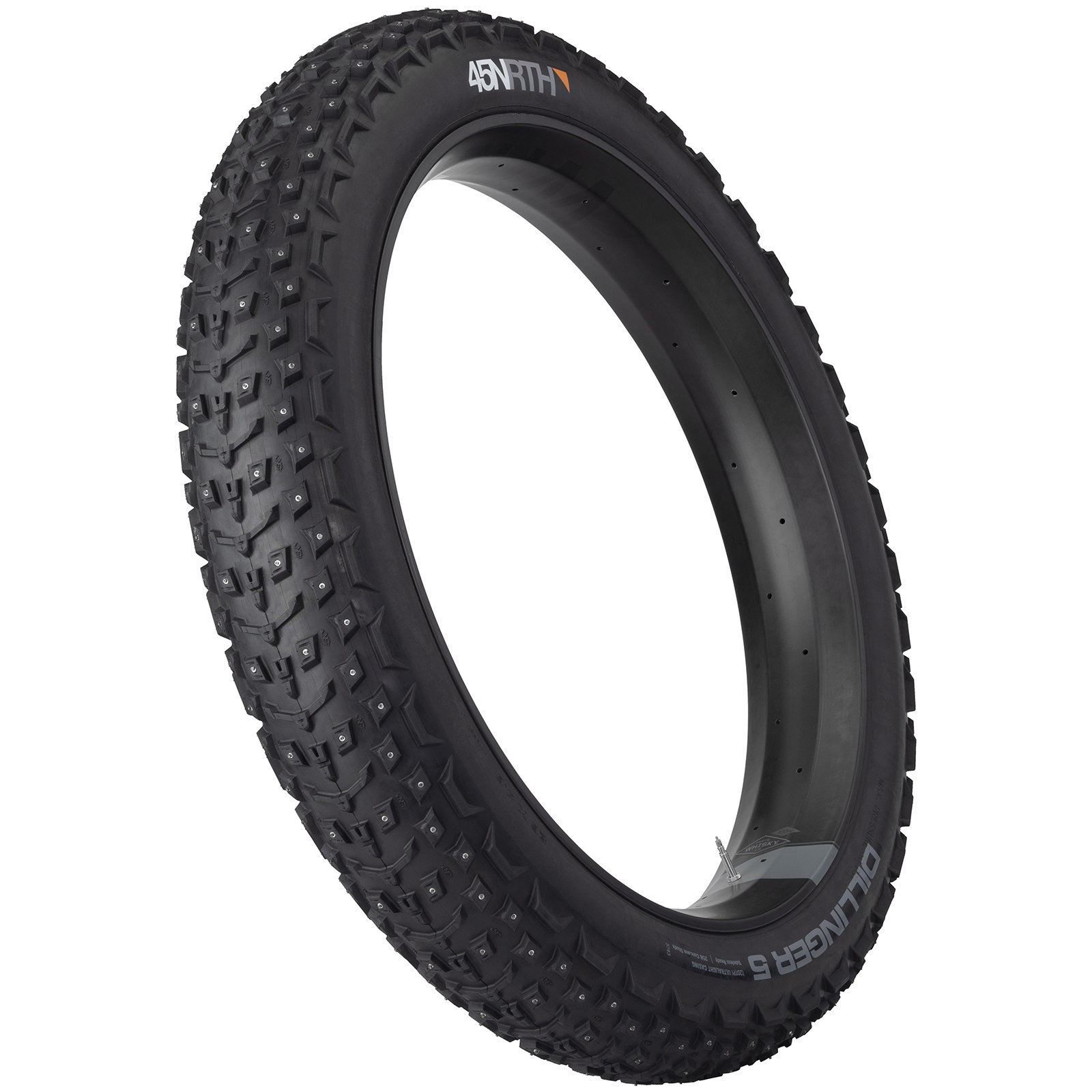 Imagen de 45NRTH Dillinger 5 Fatbike Folding Tire with 258 Studs - Tubeless Ready - 26x4.6 Inches - 60TPI