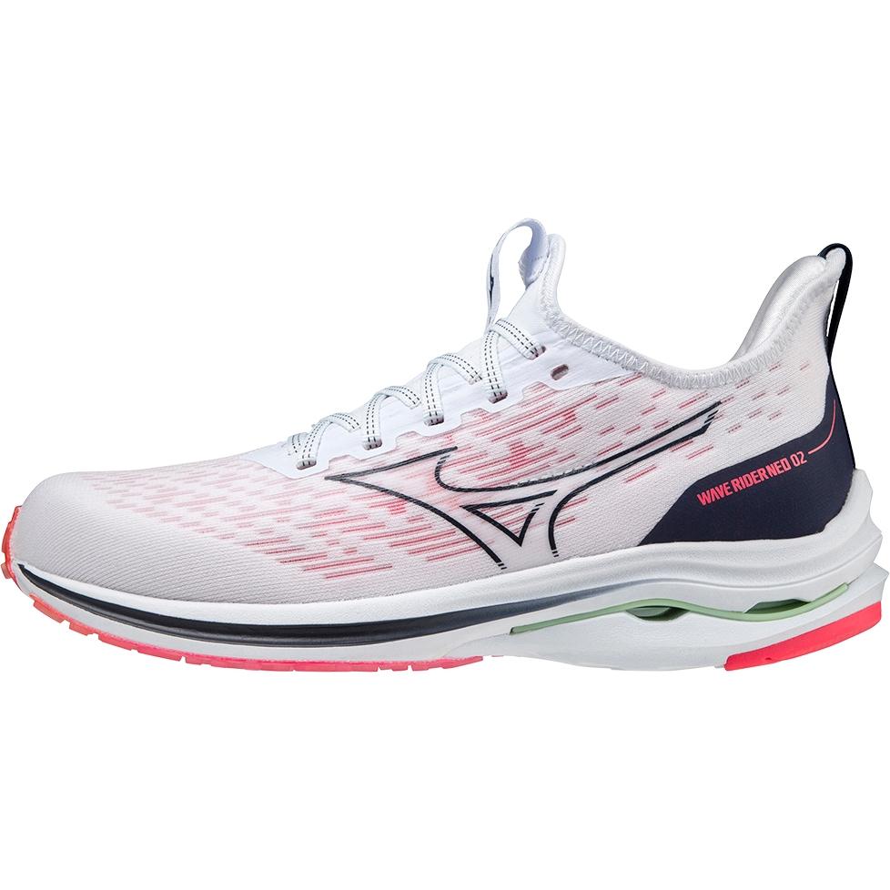 Mizuno Wave Rider Neo 2 Women's Running Shoes - Indigo White / Peacoat / Diva Pink