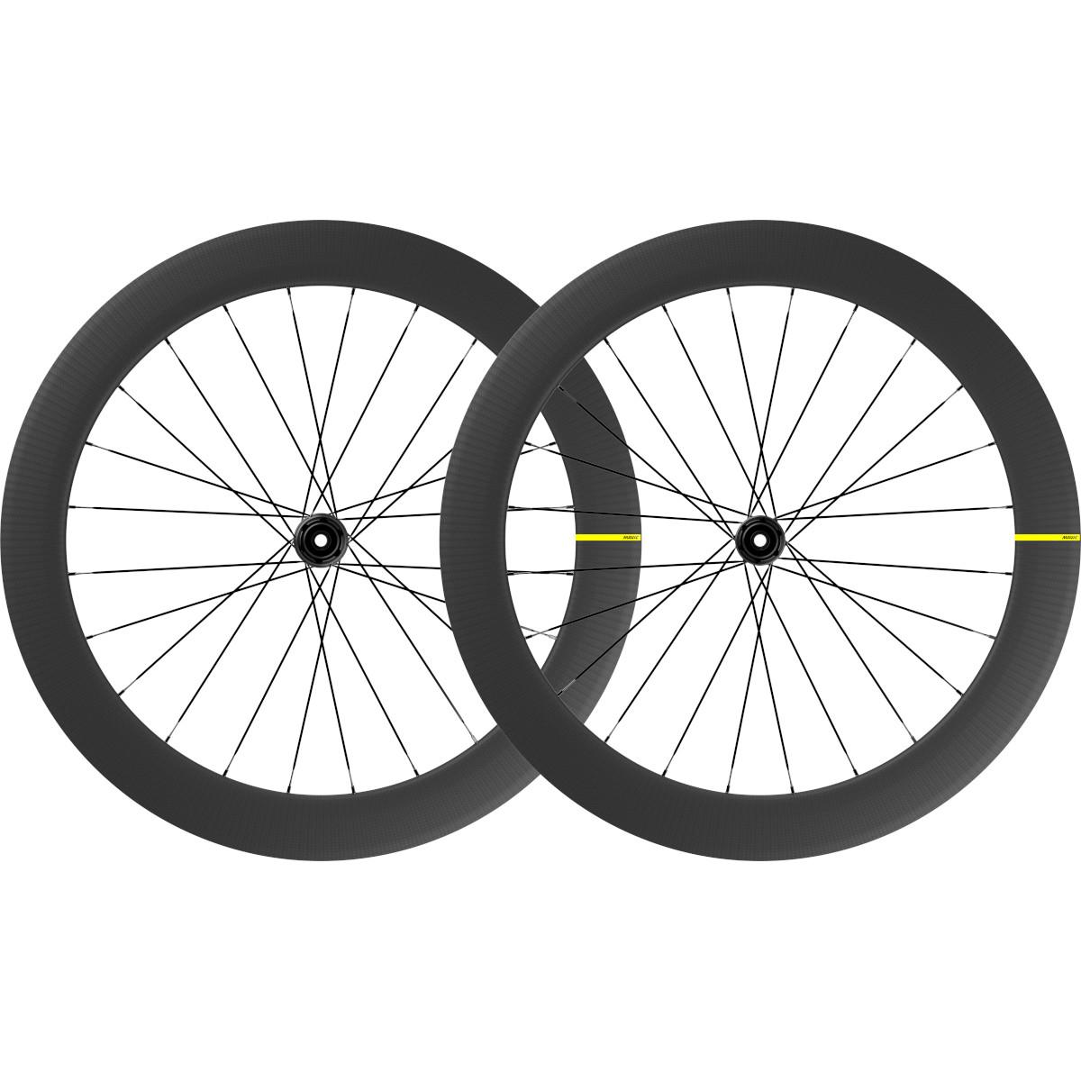 Mavic Cosmic SL 65 Disc Carbon UST Laufradsatz - Centerlock - VR: 12x100mm/QR | HR: 12x142mm/QR - SRAM XDR