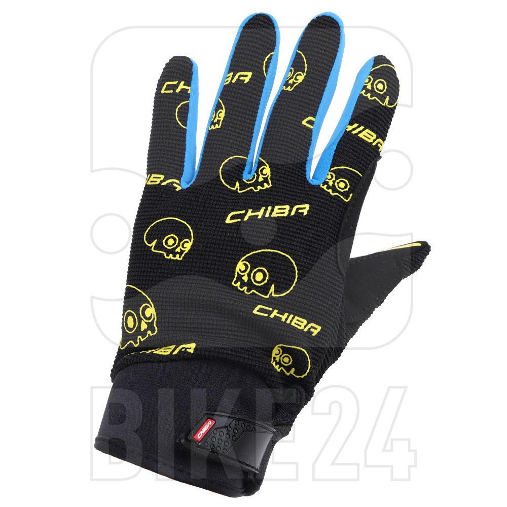 Chiba Bones Gloves Kids - schwarz/oceano