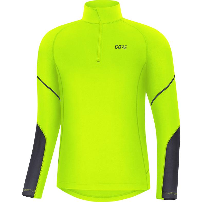 Foto de GORE Wear M Mid Camiseta manga larga con cremallera - neon yellow/black 0899