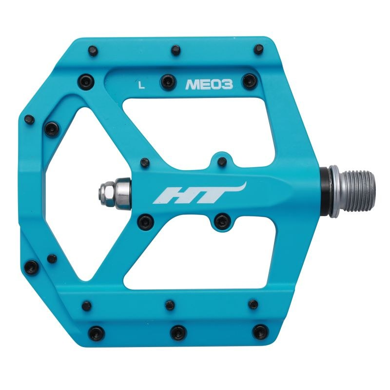 HT ME03 EVO+ Flat Pedal Magnesium - matte blue