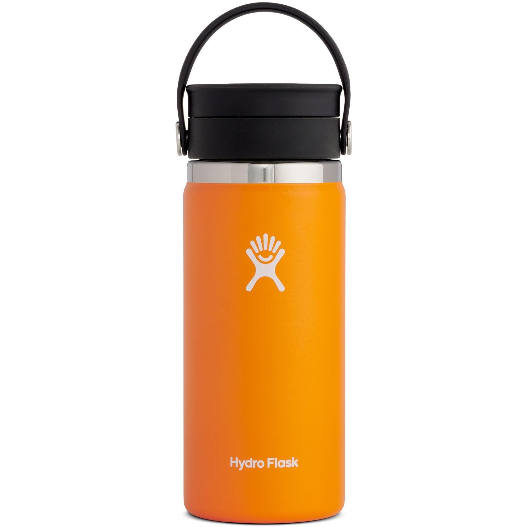 Hydro Flask 16 oz Wide Mouth Coffee Kaffeebecher mit Flex Sip Deckel - 473 ml - Clementine