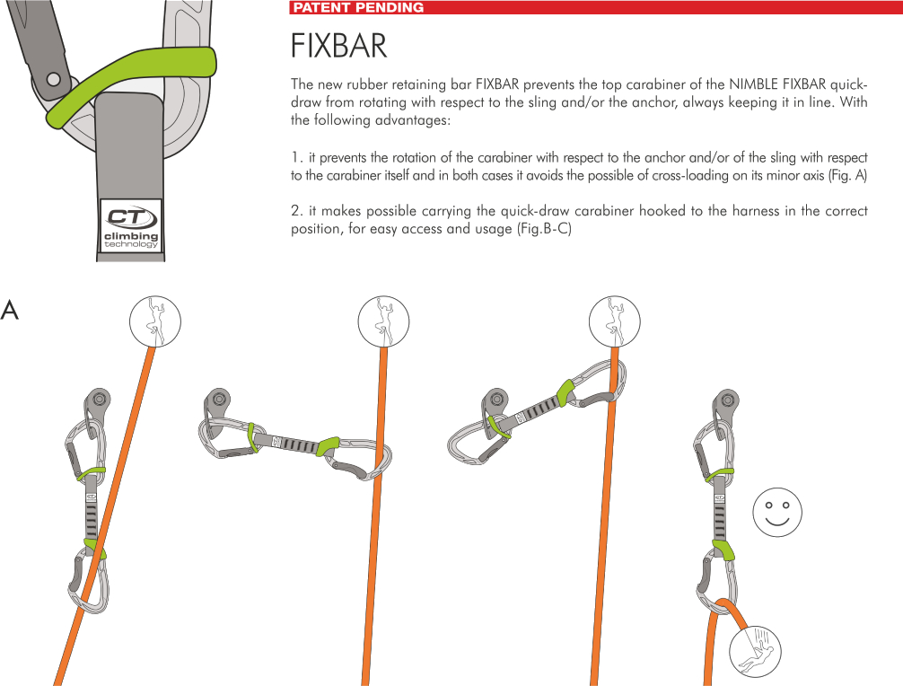 Image of Climbing Technology Nimble Fixbar Set DY Quickdraw 22cm